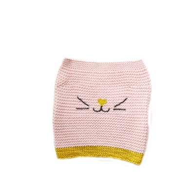 Snood en point mousse Clara Rose Pâle