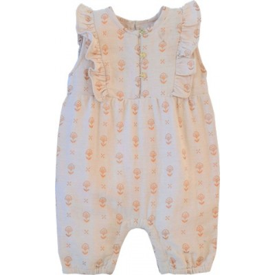 Printed babies overall  April pink