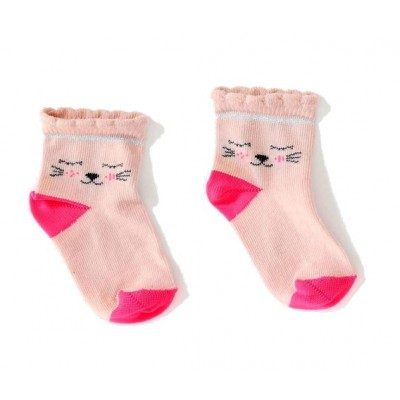 Chaussettes fantaisie chat  Nina Socks rose