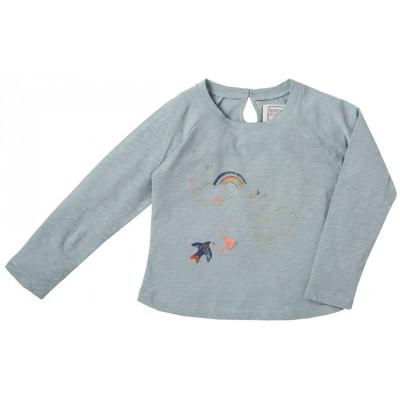 Tee shirt brodé  Rainbow bleu