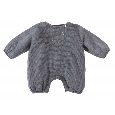 Babies overall in checks  Bloom blue/white
