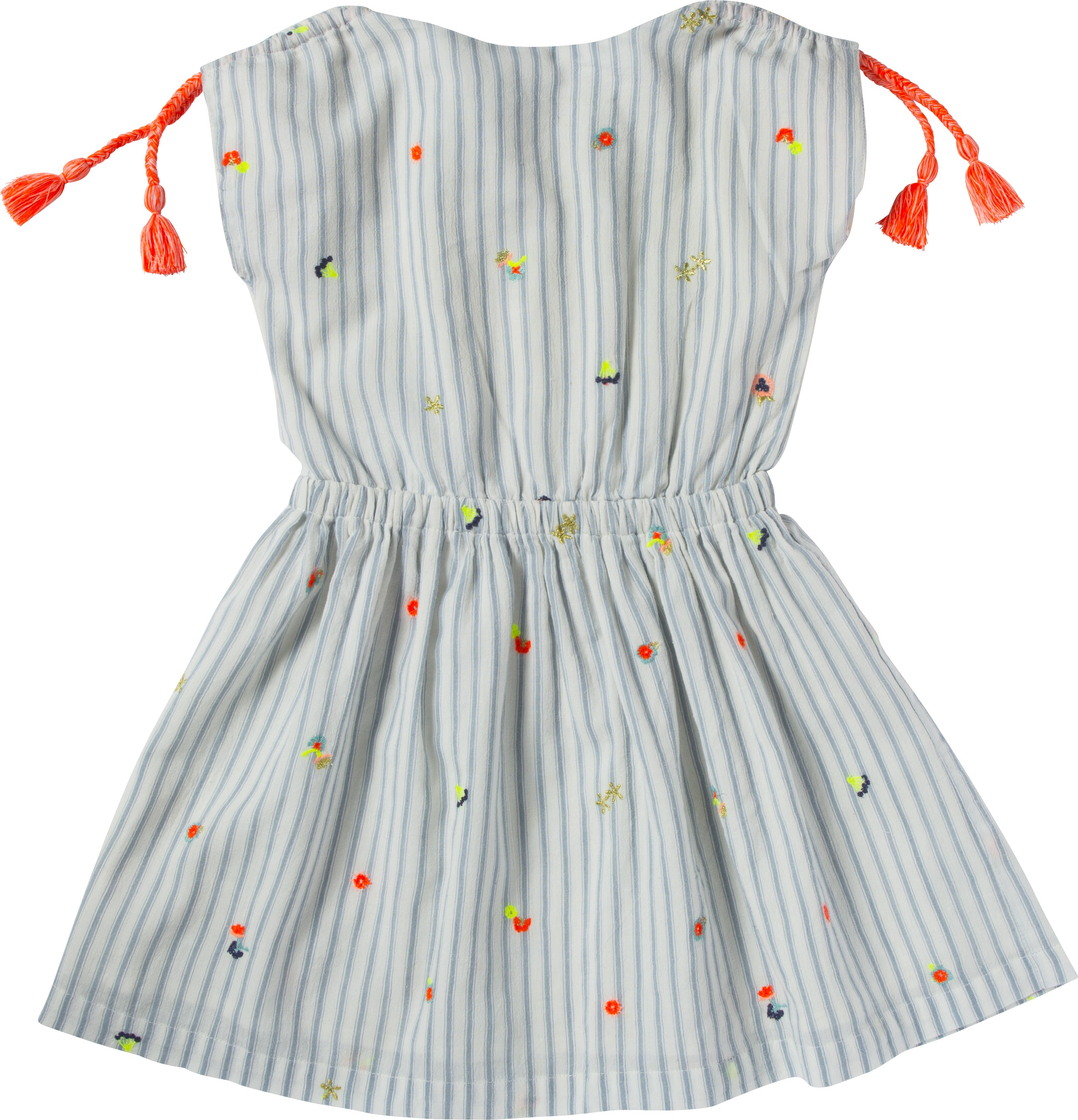 Dress With Stripes And Owers Embroideries Lison Vtements Enfant