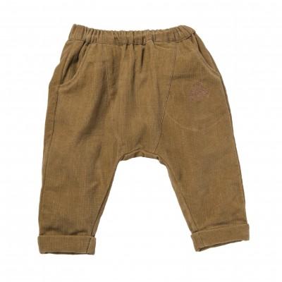 Pantalon sarouel en velours Simeon ocre