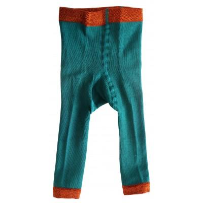 Legging côtelé vert