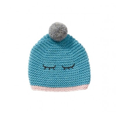 BONNET EN POINT MOUSSE HEMA BLEU