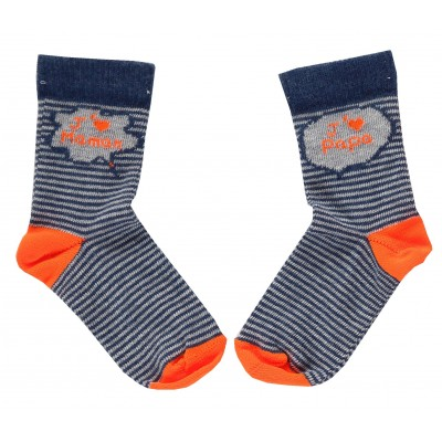 Striped socks Jaime Maman Bleu/Grey
