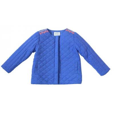 Quilted jacket with embroideries Louise Blue