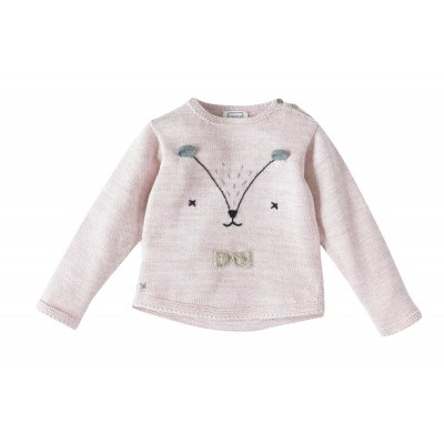 Pullover with animal embroidery Minette Pink