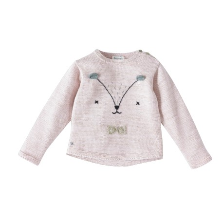 Pull motif animal brodé Minette Rose