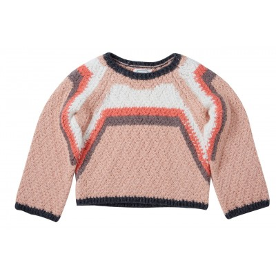Embroidered pullover Naja pink