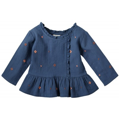 Embroidered blouse Molly blue