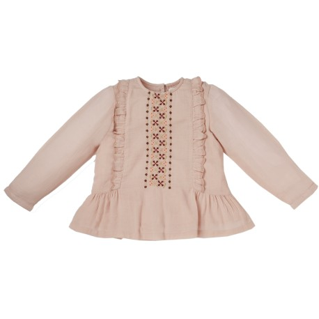 Embroidered blouse Caprice pink