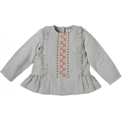 Embroidered blouse Caprice mixed grey