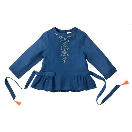 Embroidered blouse Sissi blue