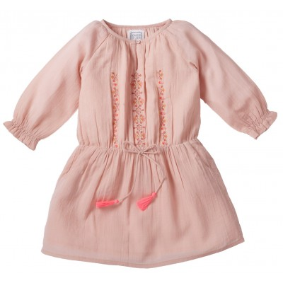 Embroidered dress Fleur pink