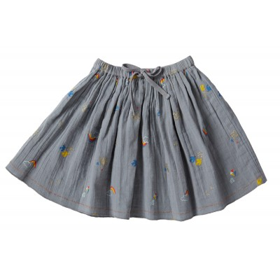 Printed skirt Carroussel blue