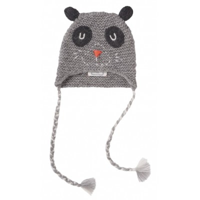 Embroidered hat Buddy grey