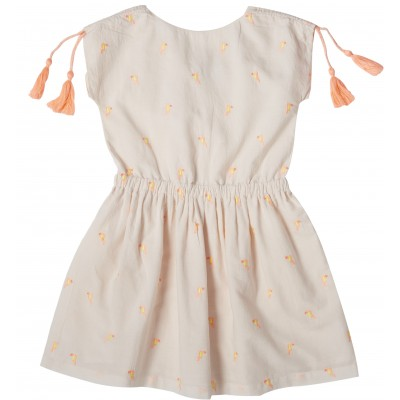 Dress with stripes and flowers embroideries Lison