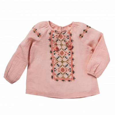 Embroidered blouse Kashmira pink