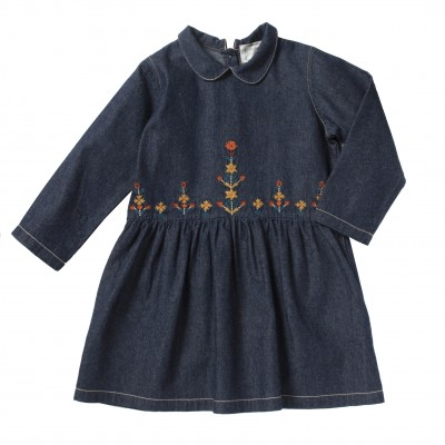 Robe brodée Doli denim