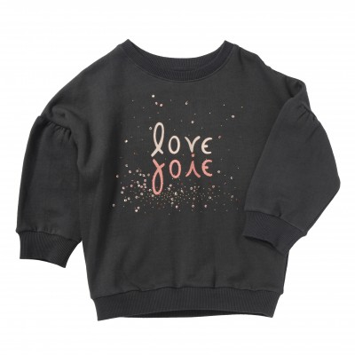 Embroidered and printed sweat Hearty anthracite