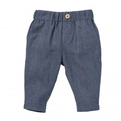 Pantalon denim à pinces Bruno