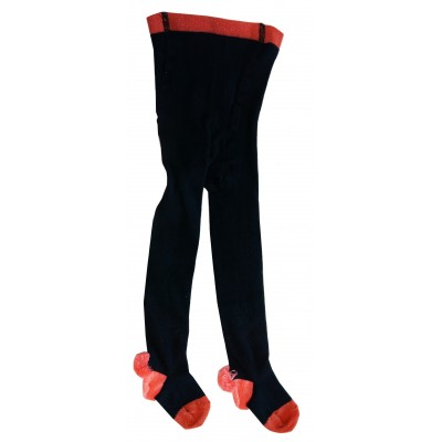 Tights Pompons navy