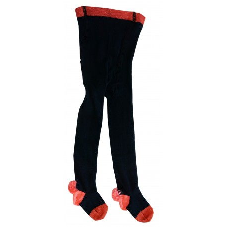 Collants Pompons marine