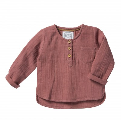 Boys kurta shirt Isak bois de rose