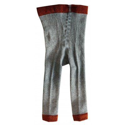 Ribbed legging grey