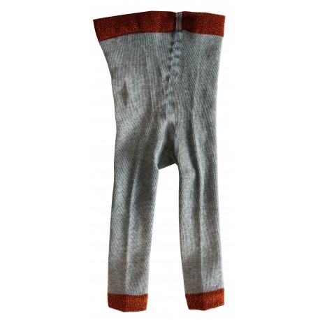 Legging côtelé gris