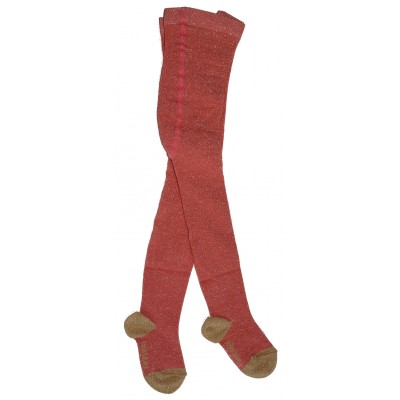 Tights Lurex coral