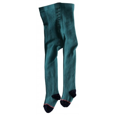 Tights Bouclargent turquoise