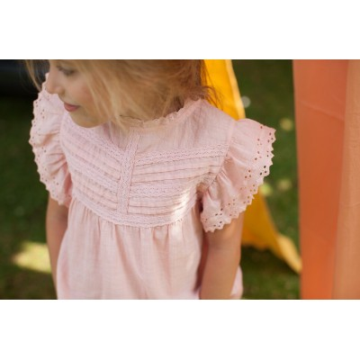 Blouse with embroidery Naty pink