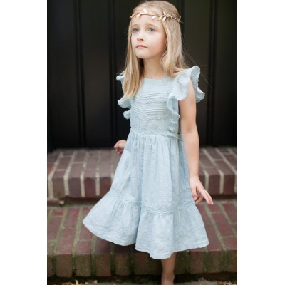 Dress Louisiane blue/grey