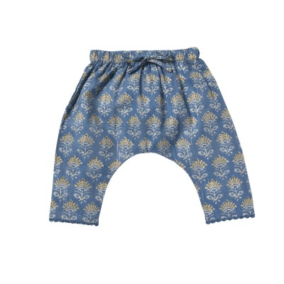 Printed sarouel pants Alhia blue / white