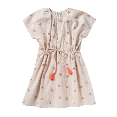 Embroidered dress Floriane pink