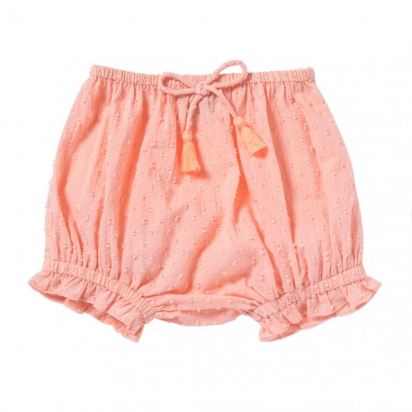 Bloomer with pompons Leonie coral pink