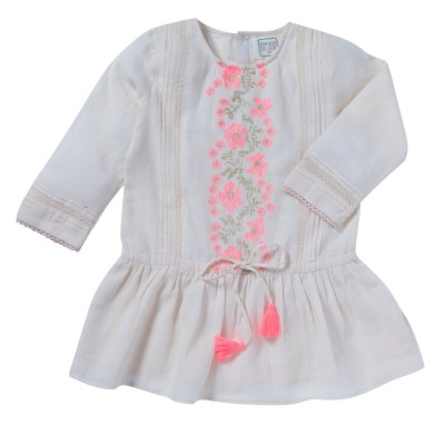 Embroidered dress Meryl pink
