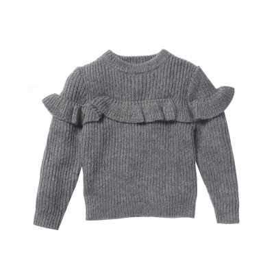 Ribbed sweater Misty grey