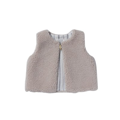 Gilet sans manches Sherpa rose