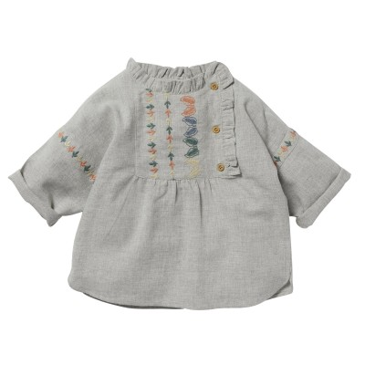 Butonned blouse Noa grey
