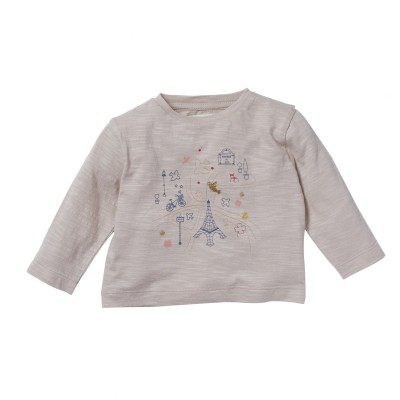 Tee-shirt imprimé Luxembourg rose pale