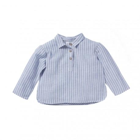 Kurta shirt Felix stripes blue/white