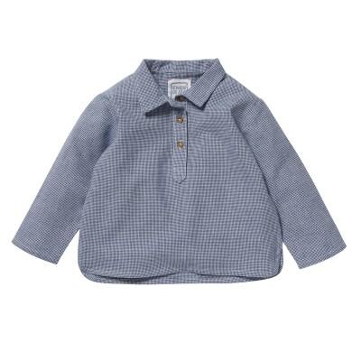 Chemise kurta Felix carreaux bleus/blancs