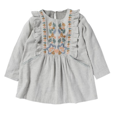 EMBROIDERED DRESS ONDINE