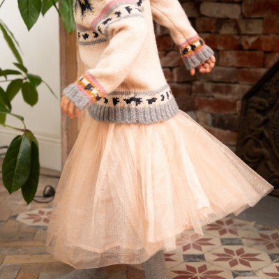 Sequined tutu skirt Melusine pale pink