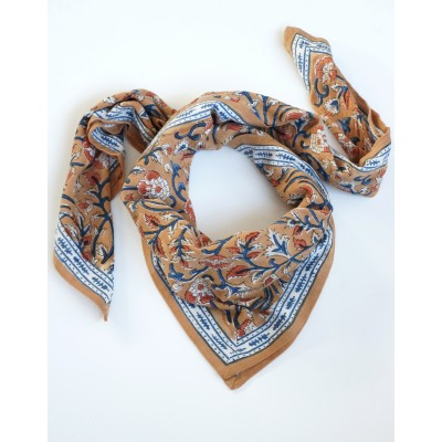scarf with « Indien » flowers print Lucette