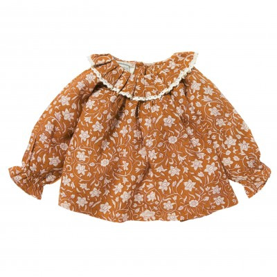 Blouse with collar Pimprenelle caramel