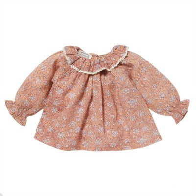 Blouse with collar Pimprenelle pink